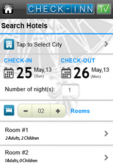 Search For Hotels App